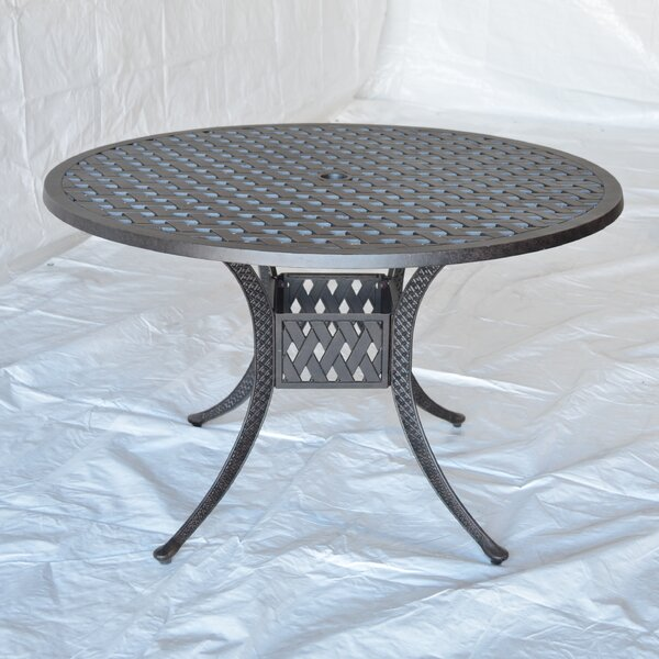 Nola Metal Dining Table by Darby Home Co