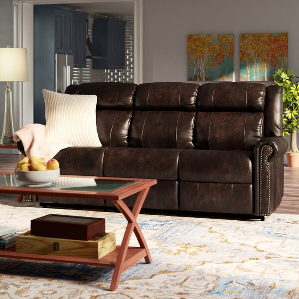 Esme Genuine Leather Reclining Sofa by Hooker Furniture