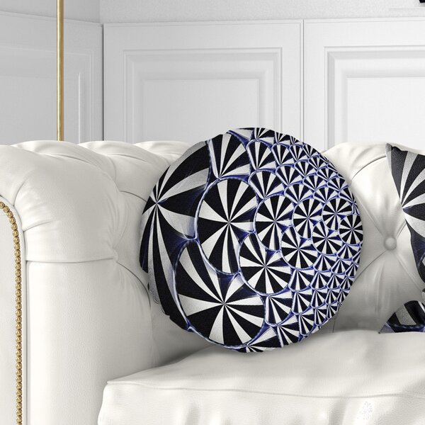 Floral 3D Shaped and Flower Design Throw Pillow by East Urban Home