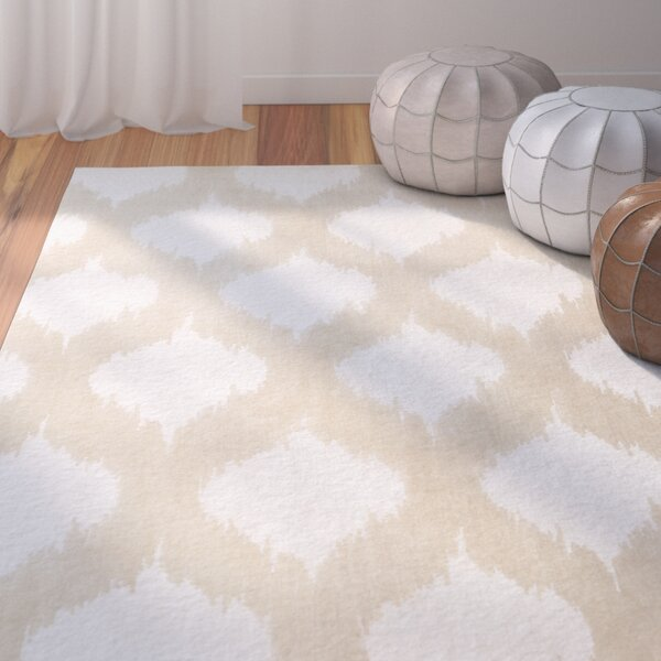 Norwell Beige Chic Area Rug by Bungalow Rose
