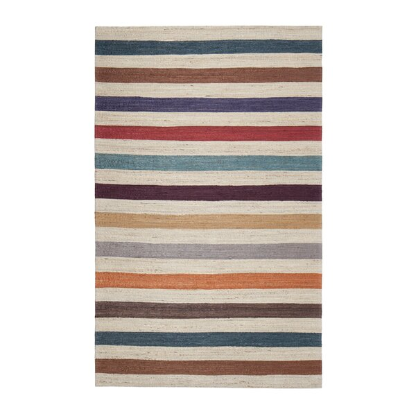 Broderick Hand-Woven Brown Area Rug by Mercury Row