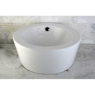 Best Reviews Dynasty Ceramic Circular Vessel Bathroom Sink with Overflow ByKingston Brass