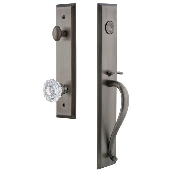 Fifth Avenue S Grip Single Cylinder Handleset with Versailles Interior Knob by Grandeur
