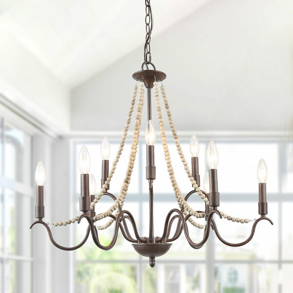Madero 9 - Light Candle Style Empire Chandelier by Bungalow Rose Bungalow Rose