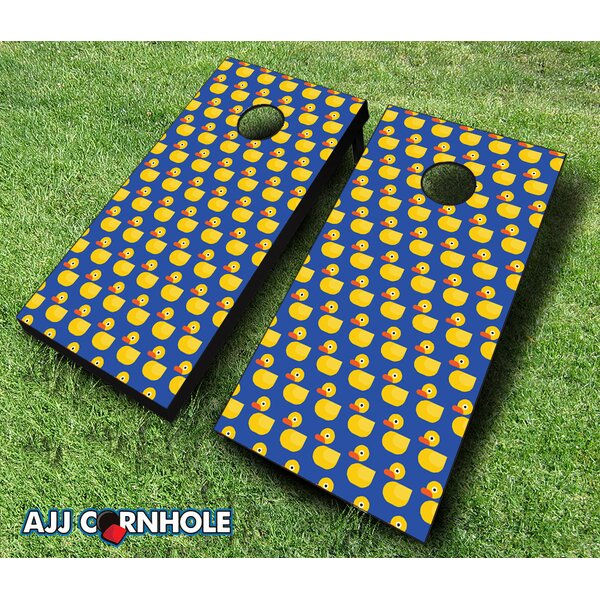 Rubber Duck Cornhole Set by AJJ Cornhole