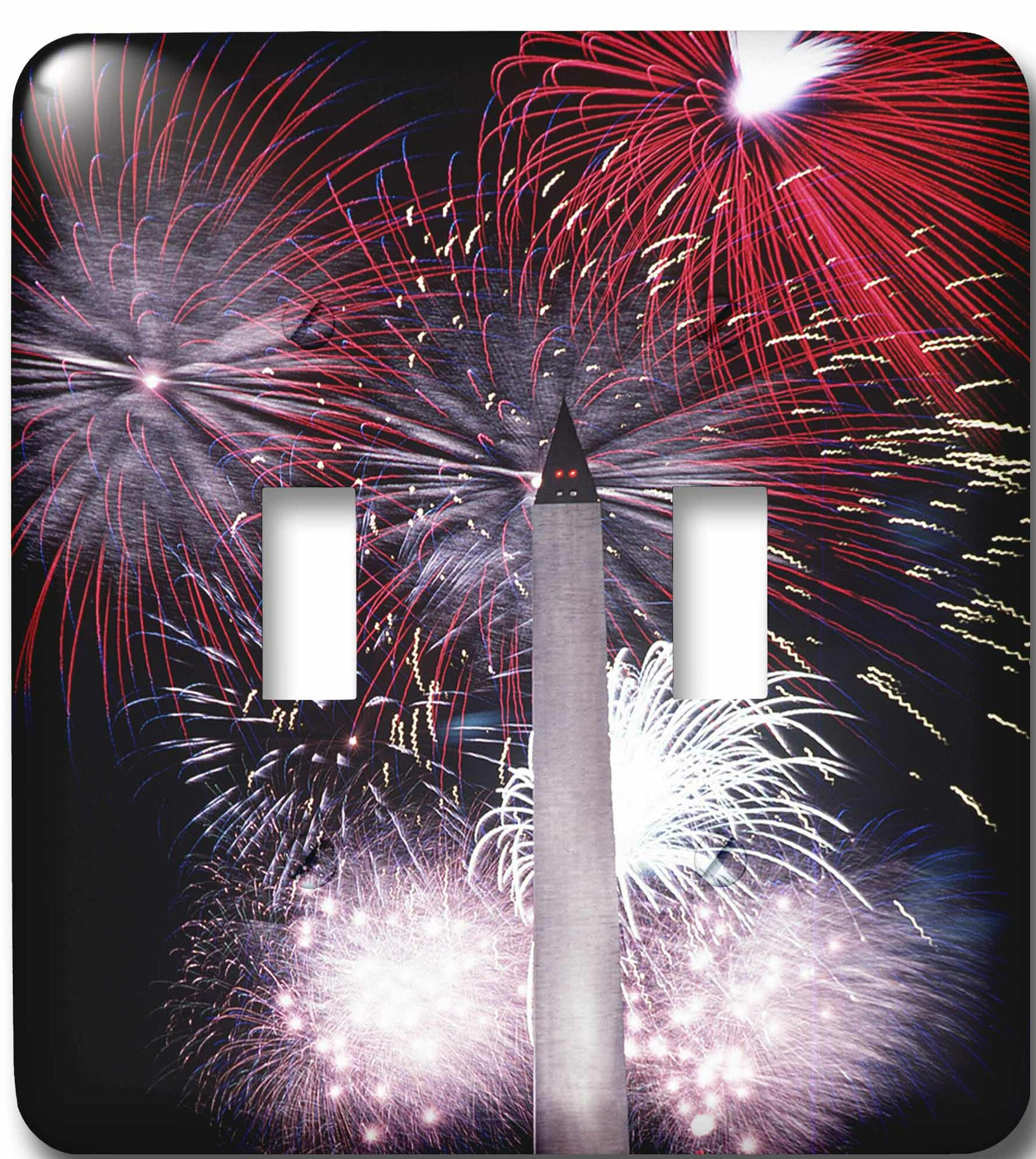3drose Washington Monument Fireworks 2 Gang Toggle Light Switch Wall Plate Wayfair