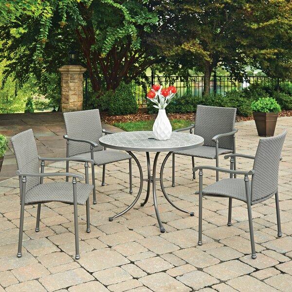Coupland Concrete Tile 5 Piece Dining Set by Fleur De Lis Living