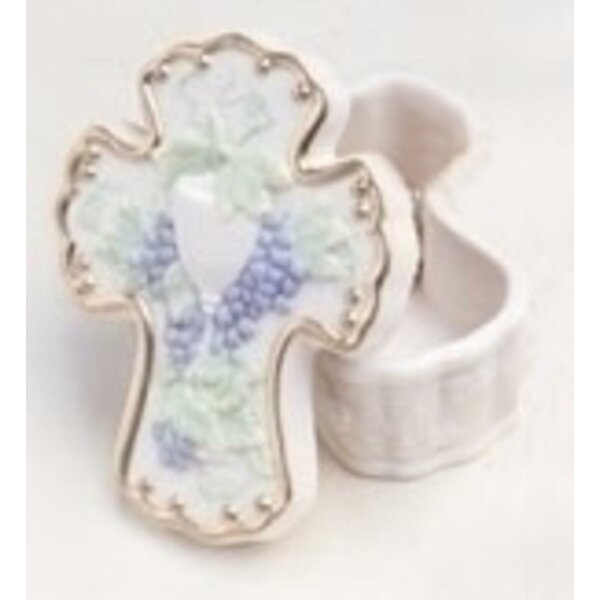 Religious Communion Chalice and Grapes Trinket Box by The Holiday Aisle