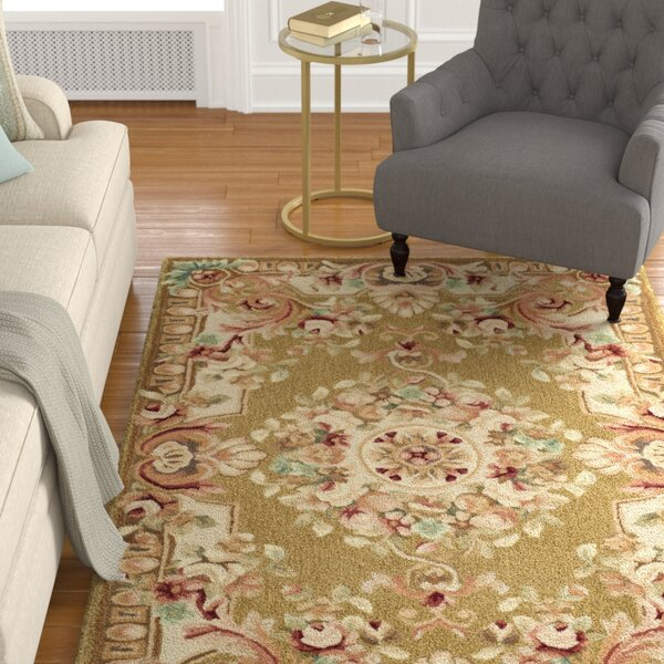 Chaplain Brown/Ivory Rug by Astoria Grand