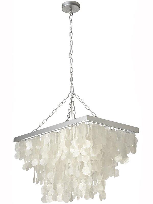 Kouboo 3 light rain drop capiz pendant lamp reviews wayfair 3 light rain drop capiz pendant lamp mozeypictures Gallery