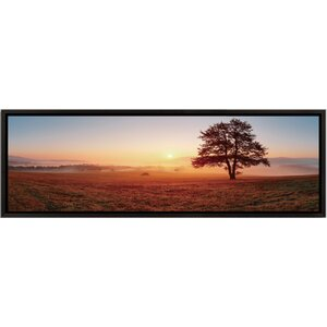 Landscape Panorama Sunset on the Prairie Framed Photographic Print by 3 Panel Photo