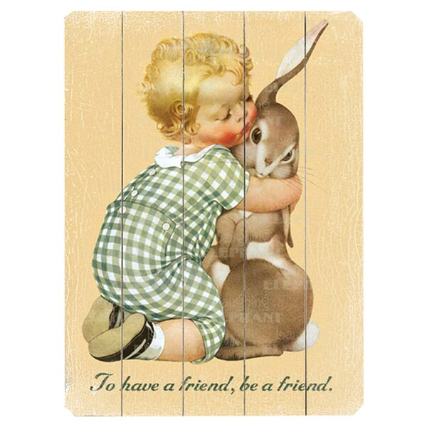 Be a Friend Graphic Art Print Multi-Piece Image on Wood by Artehouse LLC