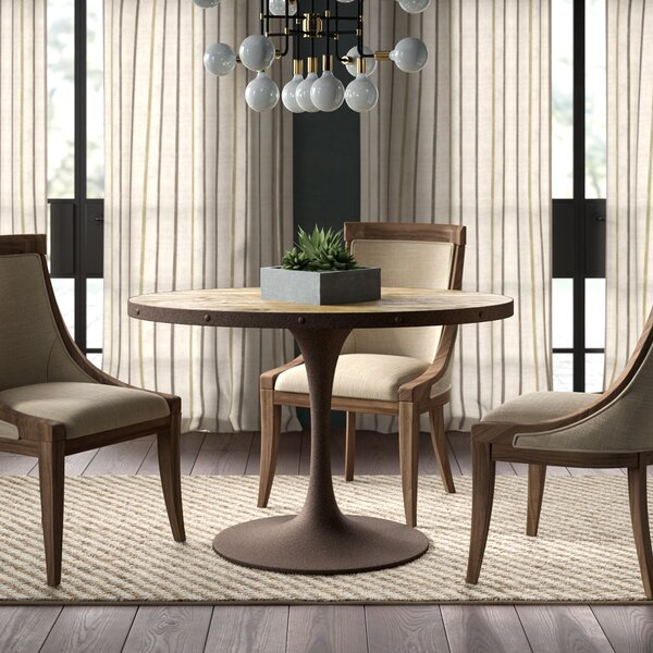 Amherst Industrial Wood Top Dining Table by Greyleigh
