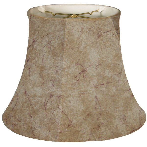 Timeless 14 Faux Leather Bell Lamp Shade by Royal Designs
