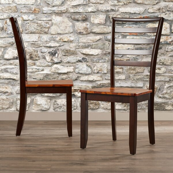 Hidalgo Solid Wood Dining Chair (Set of 2) by Millwood Pines