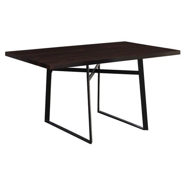 Cyprien Metal Dining Table by Latitude Run
