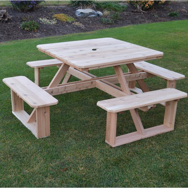 Law-Simmonds Picnic Table by August Grove