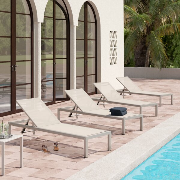 Royalston Mesh Sun Lounger Set (Set of 4) by Brayden Studio