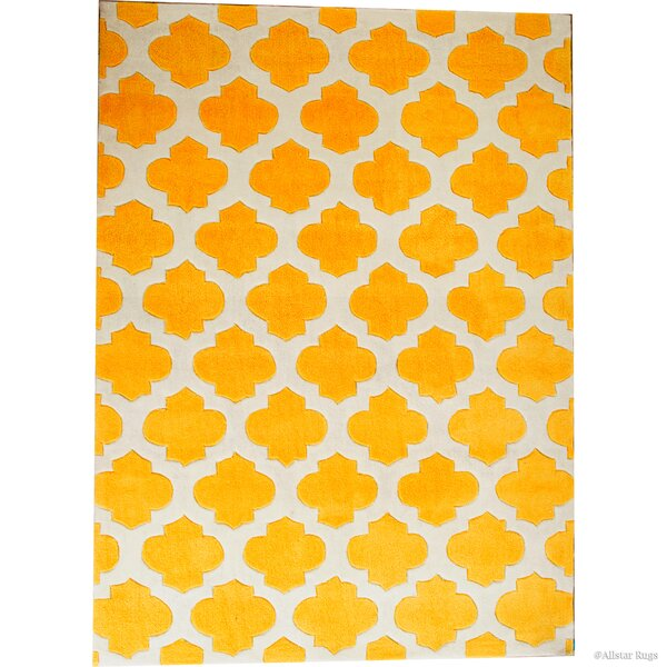 Abbey Transitional Inverted Moroccan Canary Area Rug by Harriet Bee