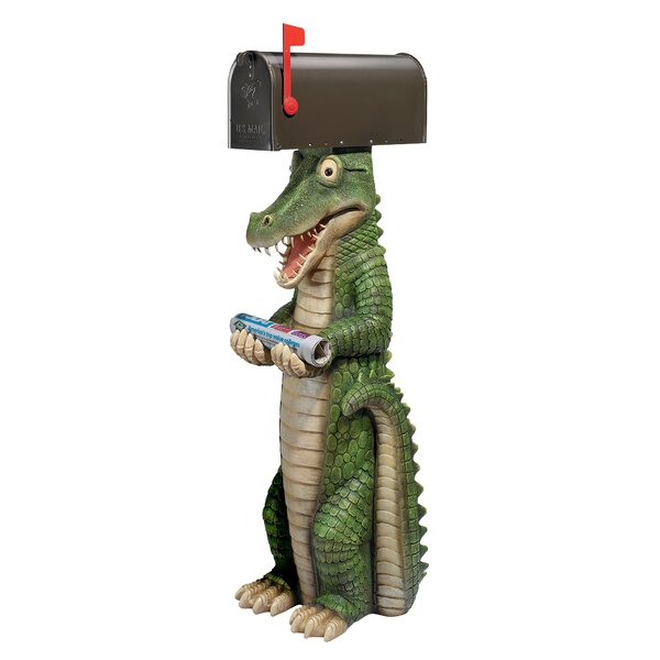 Mailbox Accessories Postal Gator Mailbox Cover by Design Toscano