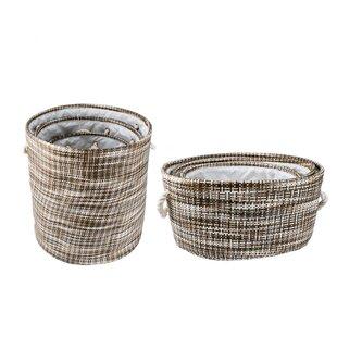 Round Fabric Storage Baskets | Wayfair