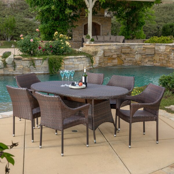 Holbrook 7 Piece Dining Set by Bayou Breeze