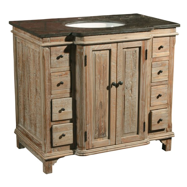 36 Single Reclaimed Pine Bathroom Vanity Set by Furniture Classics