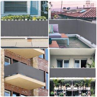 Balkonsichtschutz Sichtschutzfolie Terasse Balkon Oxford-Gewebe 4 Farbe 4 Größe