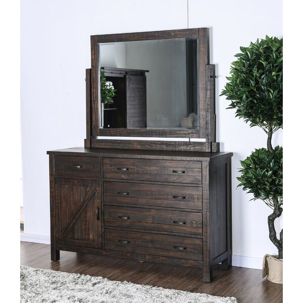 Mcmillon 5 Drawer Combo Dresser with Mirror by Gracie Oaks