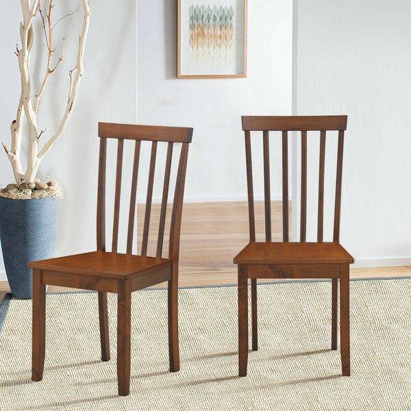 Petronille Slat Back Side Chair In Walnut (Set Of 2) By Red Barrel Studio