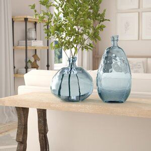 Rigina Recycled Glass Balloon Table Vase (Set of 2)