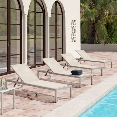 Durbin Mesh Chaise Lounge Set Of 4