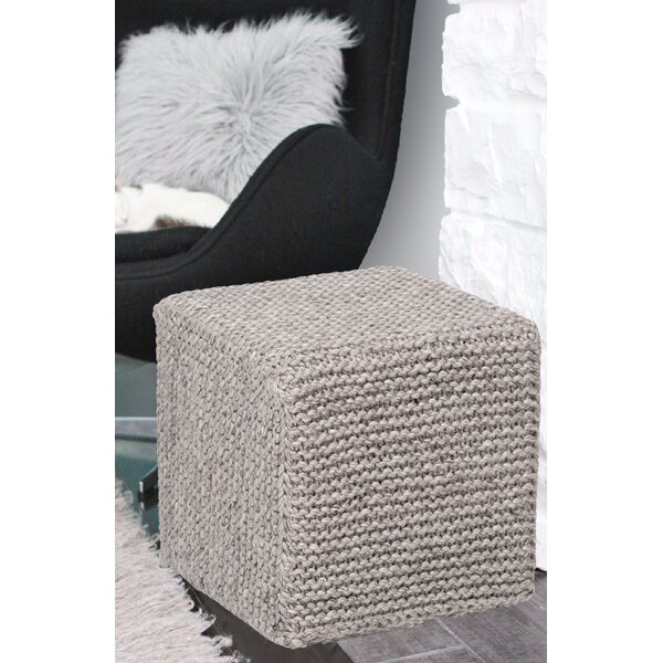 Bridgegate Handmade Cross Knit Pouf by Wrought Studio