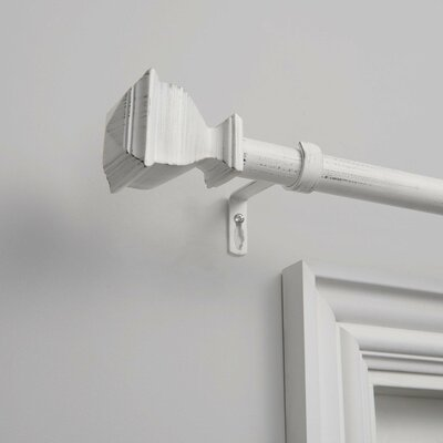 Birchlanepelayo Single Curtain Rod Color Distressed White Size 36 72 Dailymail
