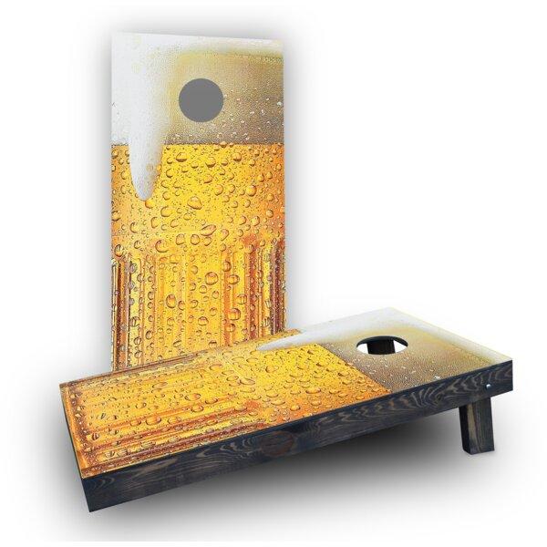 Bubbly Beer Mug Cornhole Boards (Set of 2) by Custom Cornhole Boards