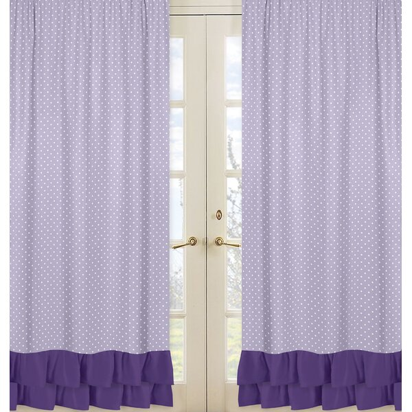 Sloane Polka dots Semi-Sheer Rod pocket Curtain Panels (Set of 2) by Sweet Jojo Designs