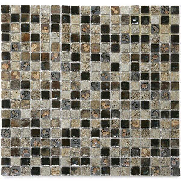 Terrene 0.6 x 0.6 Solstice Porcelain Mosaic Tile in Multi by Solistone