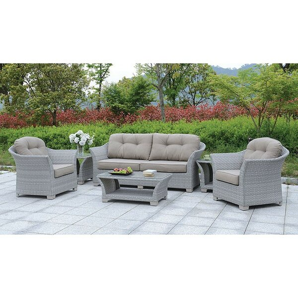 Isabeau 6 Piece Sofa Seating Group with Cushions by August Grove