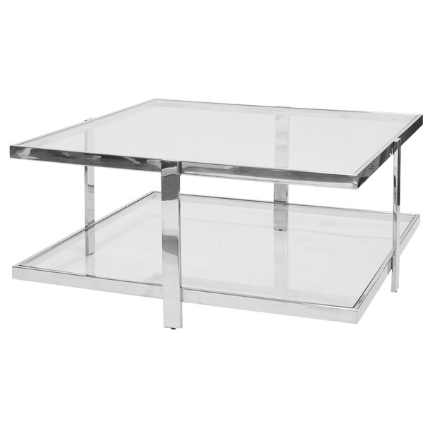 Two Tier Square Coffee Table By Worlds Away
