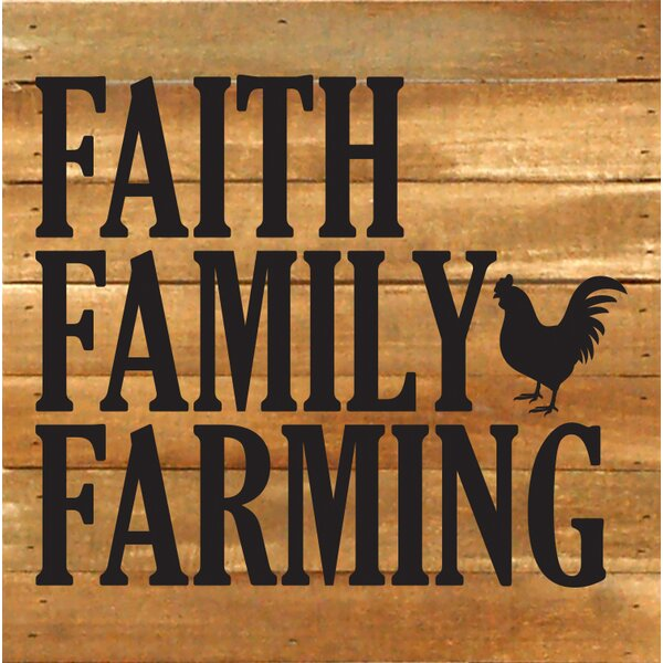 Faith Family Farming Textual Art Plaque by Artistic Reflections