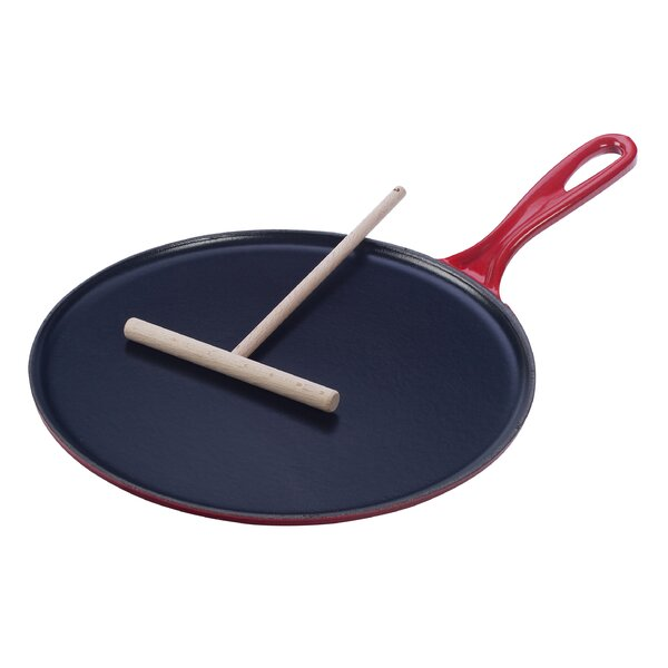 Enameled Cast Iron 10.75 Crepe Pan by Le Creuset