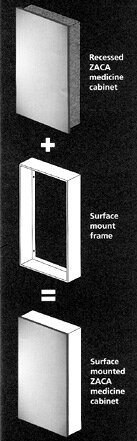 Accessories 16 x 26 Surface Mount Frame by Zaca