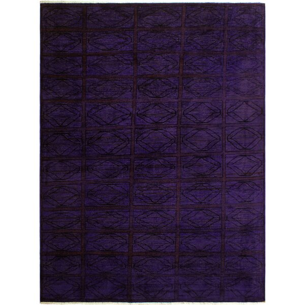 One-of-a-Kind Mcewen Hand-Knotted Wool Purple Area Rug by Bloomsbury Market