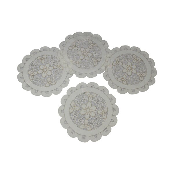 Luxurious Sweedish Embroidered and Cutwork Placemat (Set of 4) by Violet Linen