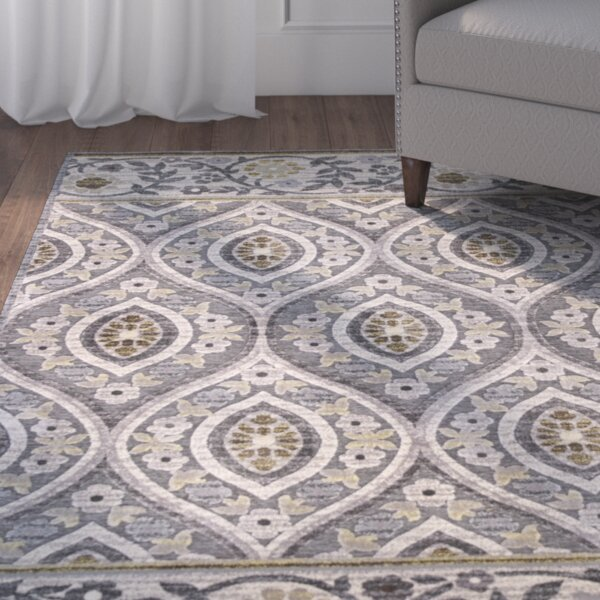 Morgantown Slate Gray Area Rug by Charlton Home