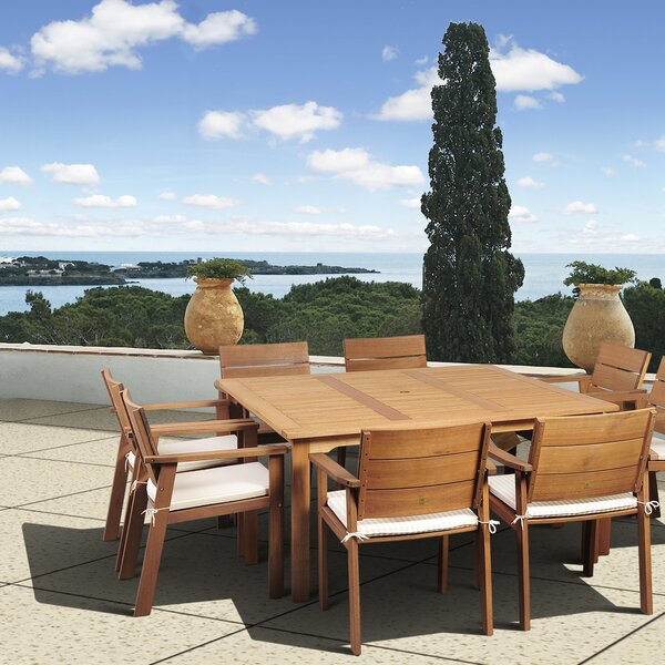 Stackpole 9 Piece Dining Set with Cushions by Beachcrest Home