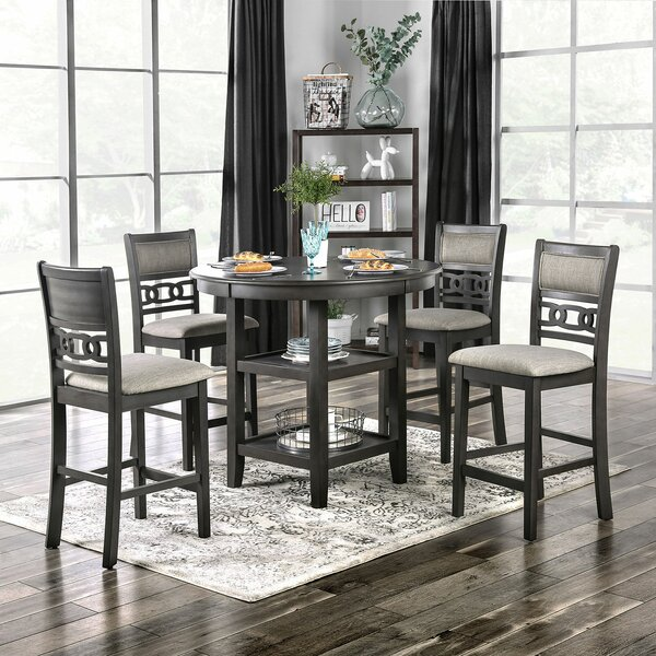 Rotterdam 5 Piece Counter Height Dining Set by Rosalind Wheeler Rosalind Wheeler