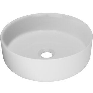 Shopping for Nautilus Series Vitreous China Circular Vessel Bathroom Sink By Ticor Sinks
