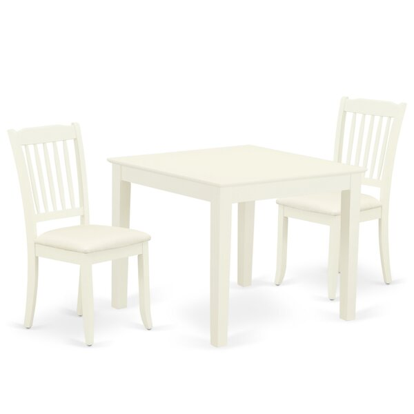 Keren 3 Piece Solid Wood Dining Set by Winston Porter Winston Porter