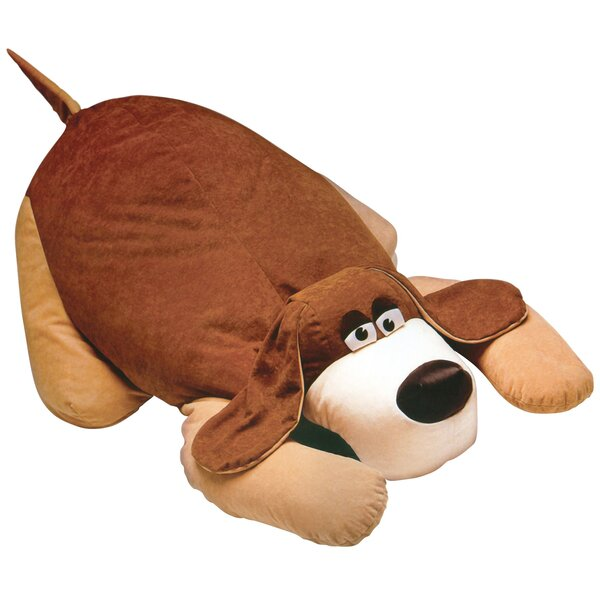 Brown Polyester Bean Bag Chair by Zoomie Kids